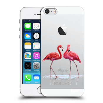 Tok az alábbi mobiltelefonokra Apple iPhone 5/5S/SE - Flamingos couple