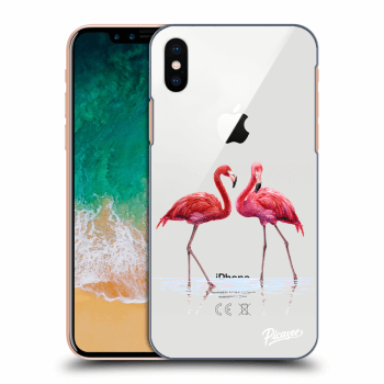 Tok az alábbi mobiltelefonokra Apple iPhone X/XS - Flamingos couple