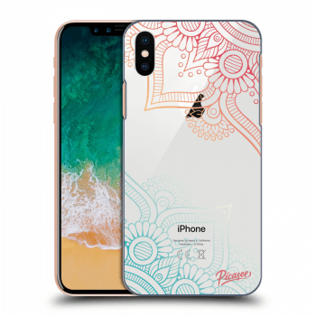 Tok az alábbi mobiltelefonokra Apple iPhone X/XS - Flowers pattern