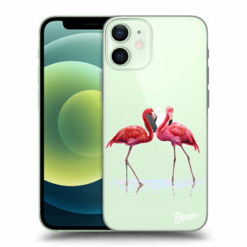 Tok az alábbi mobiltelefonokra Apple iPhone 12 mini - Flamingos couple