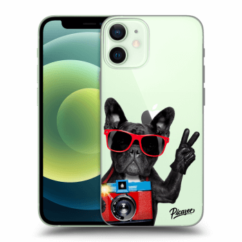 Tok az alábbi mobiltelefonokra Apple iPhone 12 mini - French Bulldog