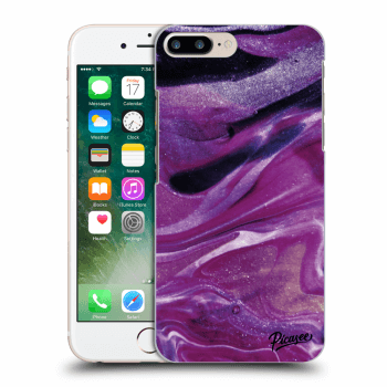 Tok az alábbi mobiltelefonokra Apple iPhone 8 Plus - Purple glitter